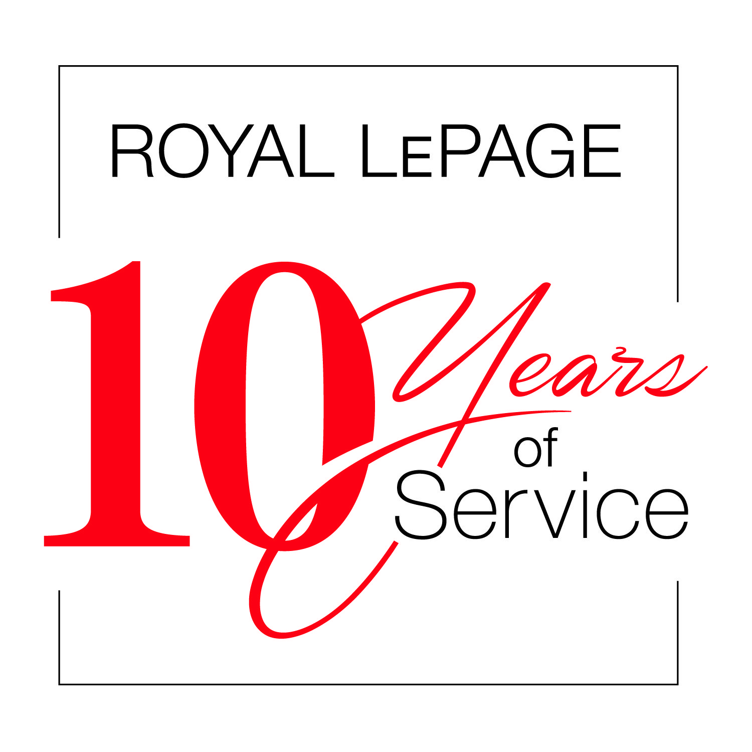 Royal LePage 10 Years of Service Award